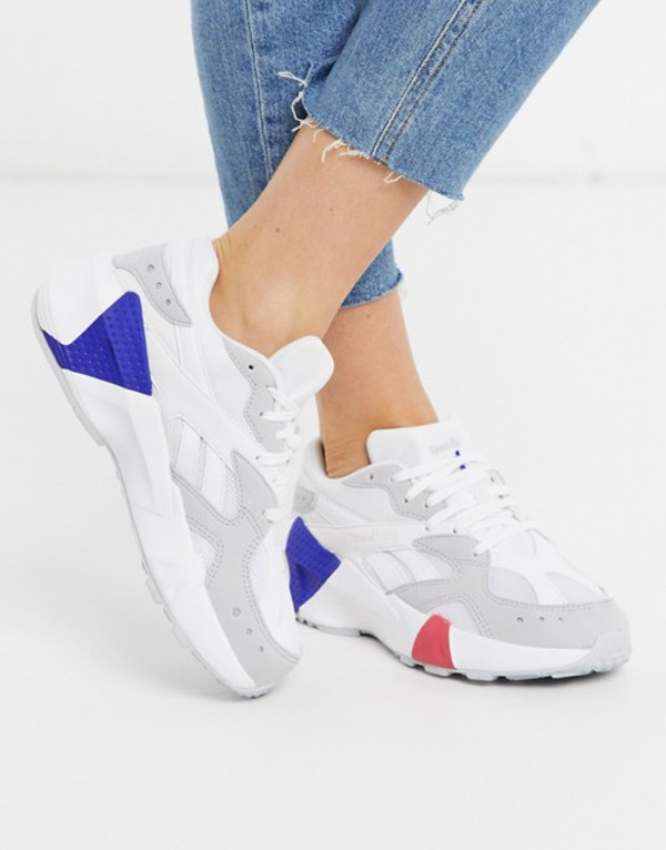 リーボック レディース スニーカー シューズ Reebok Aztrek double sneakers in white White / gray / pink