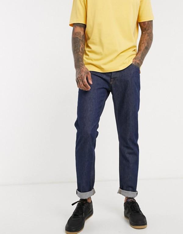 ジャック アンド ジョーンズ メンズ デニムパンツ ボトムス Jack & Jones Intelligence straight fit jeans in vintage rinse wash Blue denim