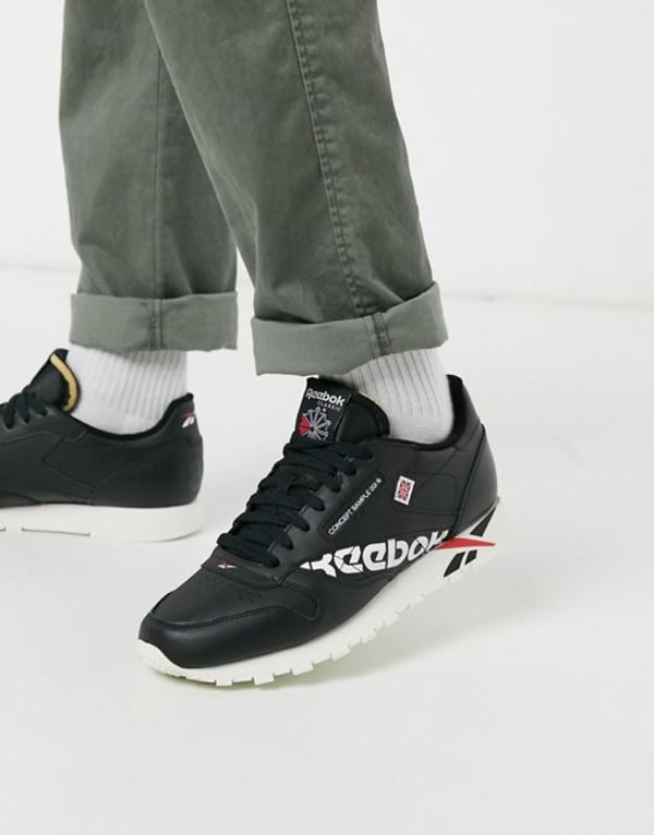 リーボック メンズ スニーカー シューズ Reebok Classics leather sneakers Black/white