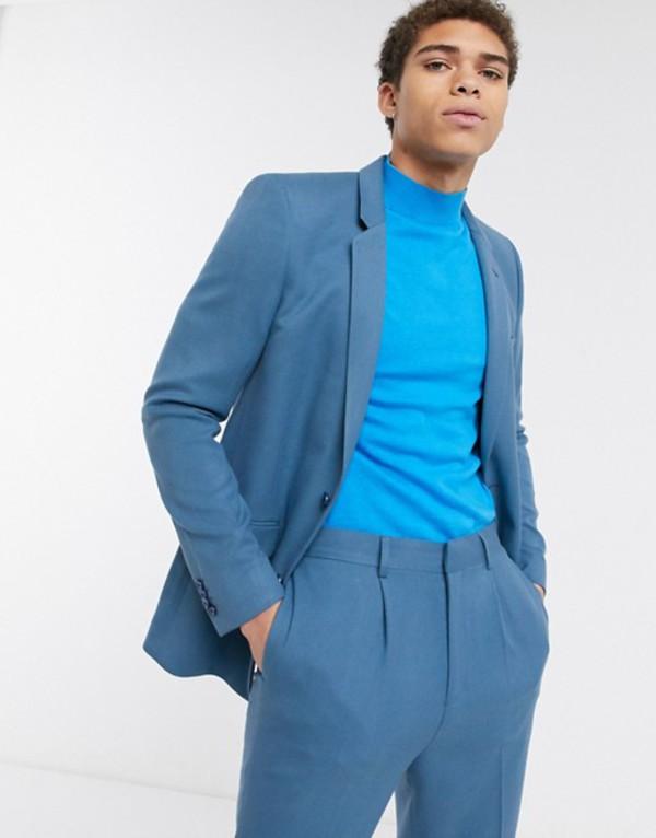エイソス メンズ ジャケット・ブルゾン アウター ASOS DESIGN skinny suit jacket in soft teal Teal