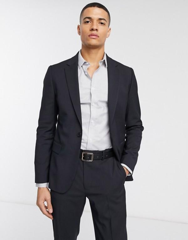 エイソス メンズ ジャケット・ブルゾン アウター ASOS DESIGN skinny suit jacket in navy Navy