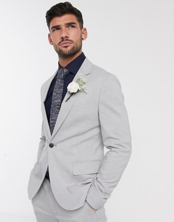 エイソス メンズ ジャケット・ブルゾン アウター ASOS DESIGN skinny suit jacket in gray Gray