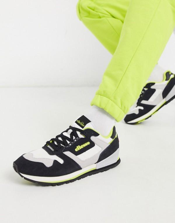 エレッセ メンズ スニーカー シューズ Ellesse suede mix sneakers in color block Black