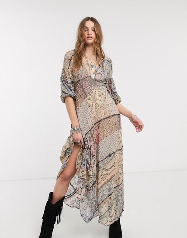 フリーピープル レディース ワンピース トップス Free People moroccan dream printed maxi dress Multi