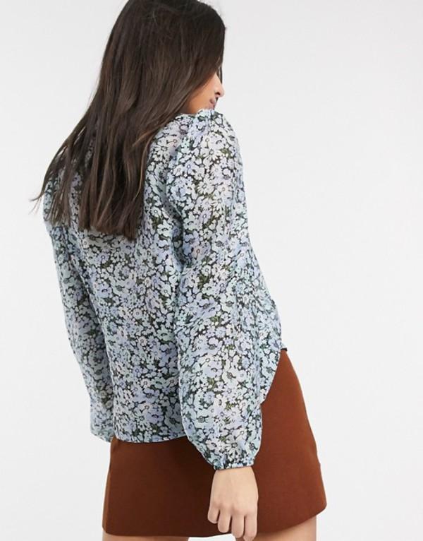 ストラディバリウス レディース シャツ トップス Stradivarius puff sleeve shirt with floral print Floral print7gmb6vIYyf
