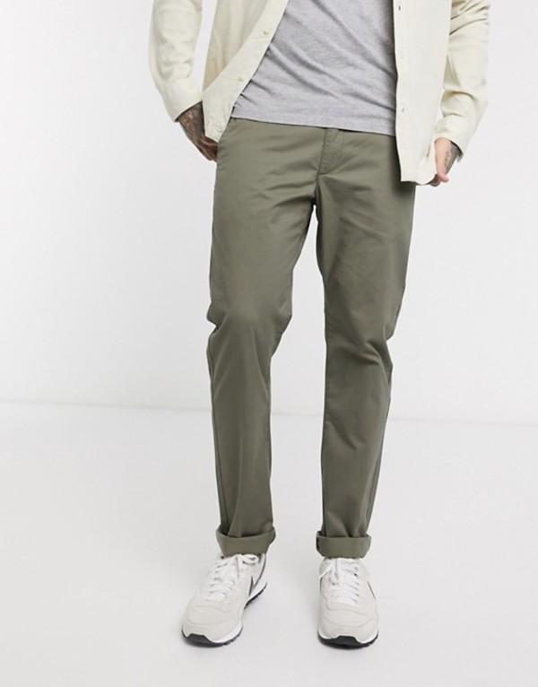 ファーラー メンズ カジュアルパンツ ボトムス Farah Elm slim fit chino twill pants in vintage green Vintage green