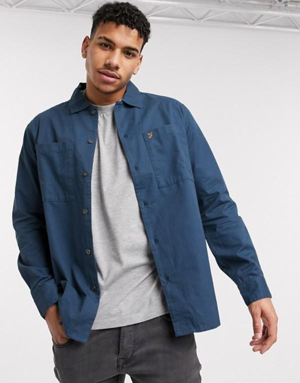 ファーラー メンズ ジャケット・ブルゾン アウター Farah Dallam light jacket in blue Blue