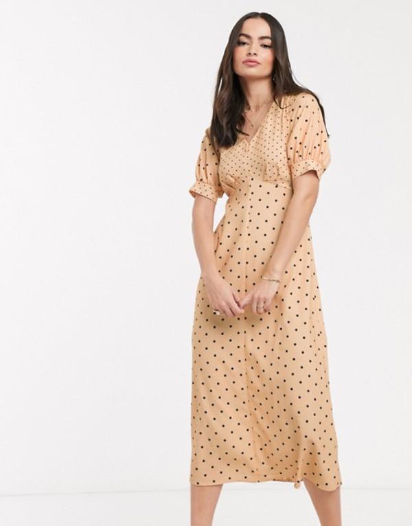 クローゼットロンドン レディース ワンピース トップス Closet London midi tea dress in mixed spot Multi
