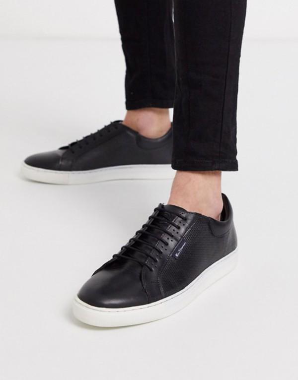 ベンシャーマン メンズ スニーカー シューズ Ben Sherman chunky sole sneakers in black Black