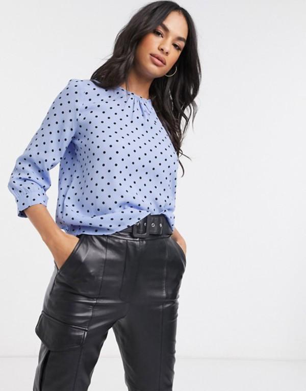 ウエアハウス レディース シャツ トップス Warehouse polka dot blouse in blue Blue