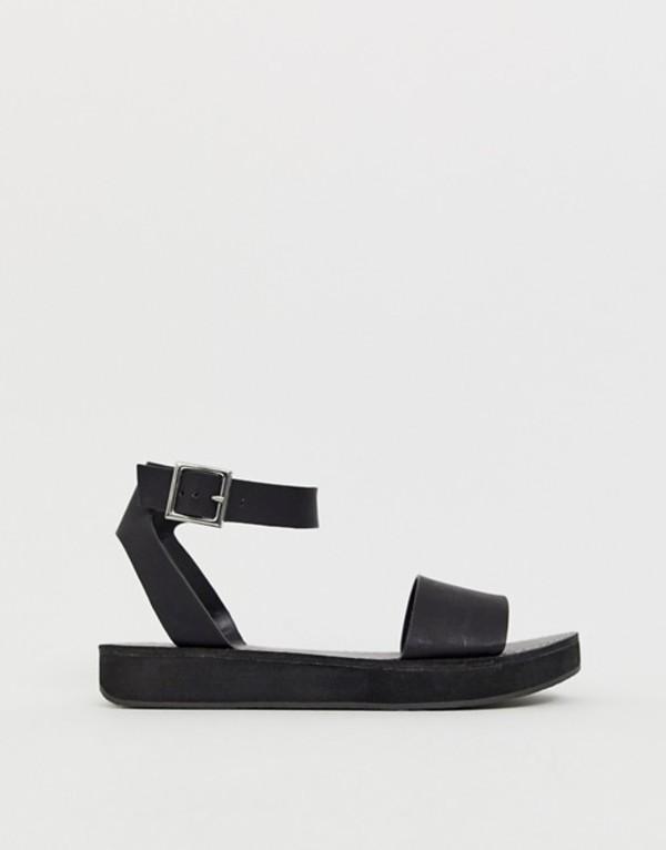 エイソス レディース サンダル シューズ ASOS DESIGN Forlong chunky flatform sandals Black