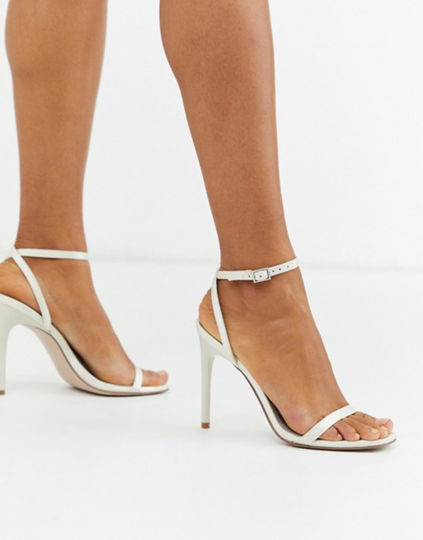 エイソス レディース サンダル シューズ ASOS DESIGN Nova barely there heeled sandals in ivory Ivory