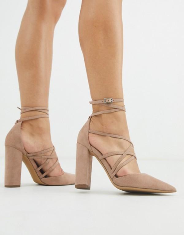 エイソス レディース ヒール シューズ ASOS DESIGN Pick Me Up high block heels in taupe Taupe