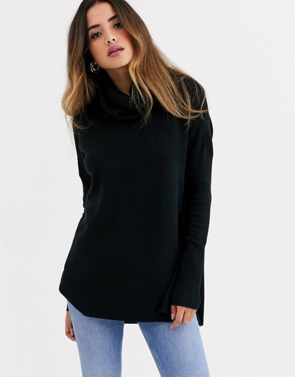 フレンチコネクション レディース ニット・セーター アウター French Connection cowl neck step hem sweater Black