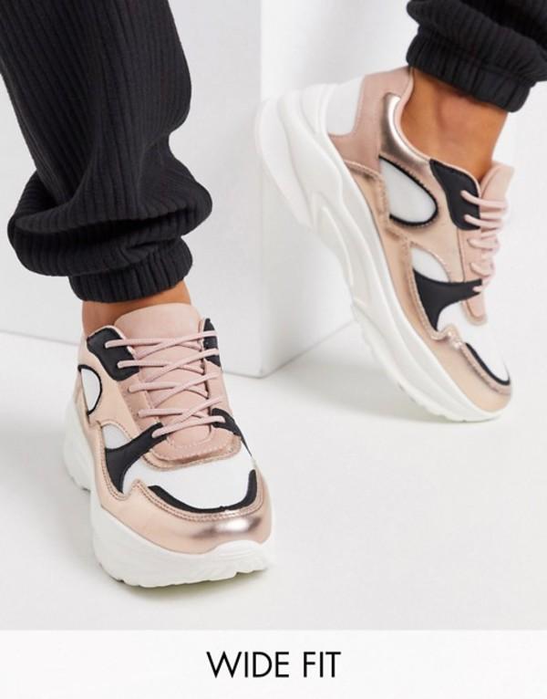 エイソス レディース スニーカー シューズ ASOS DESIGN Wide Fit Degree chunky sneakers in multi Multi
