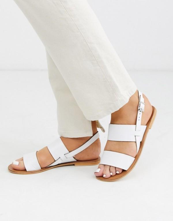 エイソス レディース サンダル シューズ ASOS DESIGN Foxglove leather sandal in white White