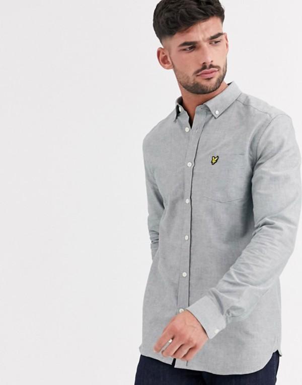 ライルアンドスコット メンズ シャツ トップス Lyle & Scott oxford shirt in khaki Khaki