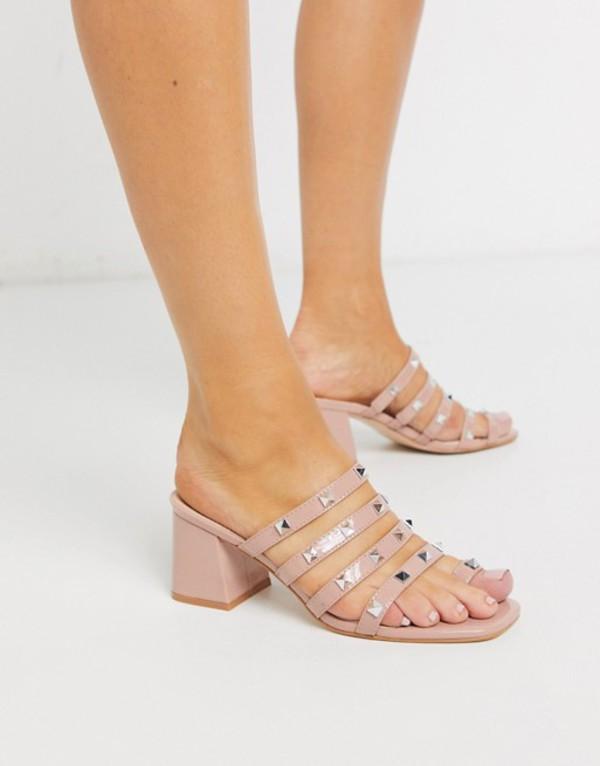 パブリックデザイア レディース ヒール シューズ Public Desire Jamie mule sandals in blush patent Blush patent