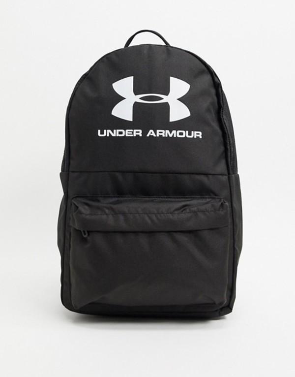 アンダーアーマー メンズ バックパック・リュックサック バッグ Under Armour Training logo backpack in black Black