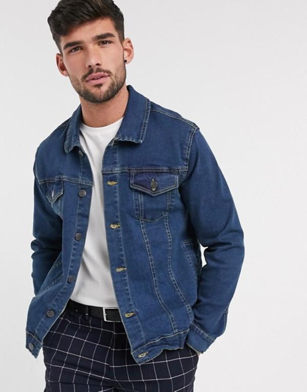 フレンチコネクション メンズ ジャケット・ブルゾン アウター French Connection logo denim jacket Indigo