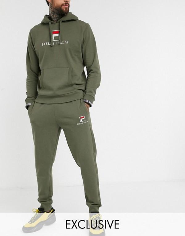 フィラ メンズ カジュアルパンツ ボトムス Fila Deno Essential jogger in khaki exclusive at ASOS Katamata