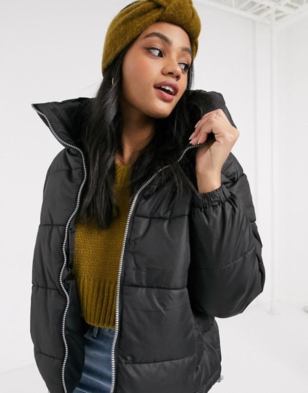 ブレーブソウル レディース コート アウター Brave Soul slate padded coat Black