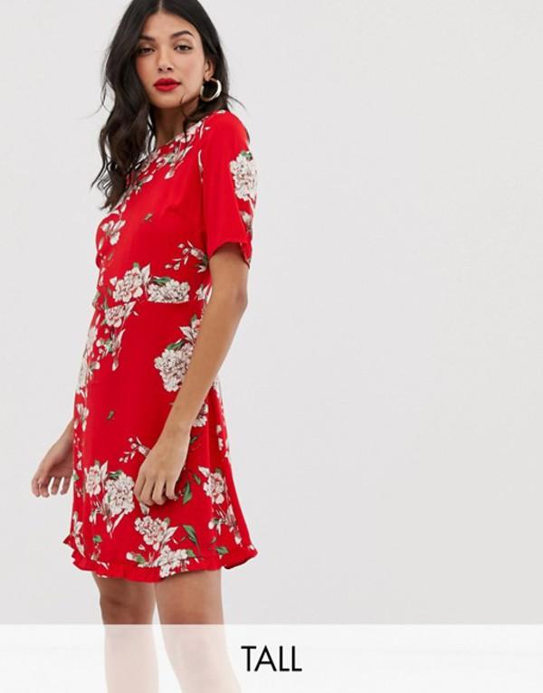 ワイエーエス レディース ワンピース トップス Y.A.S Tall Angelia floral print dress Red floral