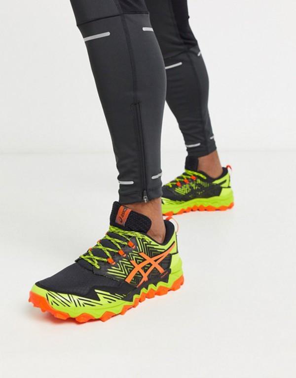 アシックス メンズ スニーカー シューズ Asics Running gel-FujiTrabuco sneakers in lime Green