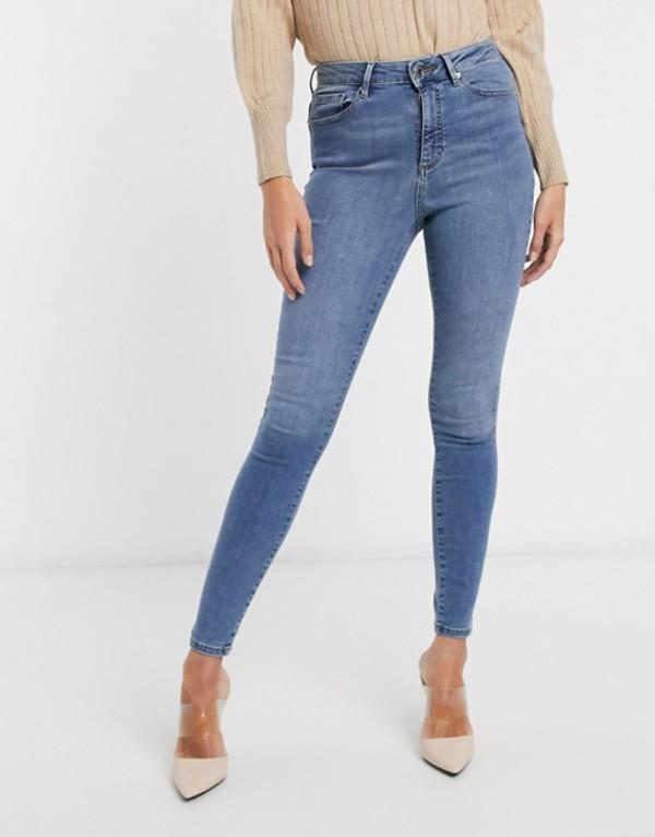 ヴェロモーダ レディース デニムパンツ ボトムス Vero Moda skinny jean with high waist in light blue Blue
