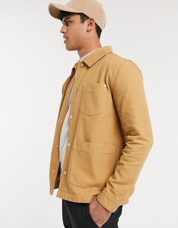 エイソス メンズ ジャケット・ブルゾン アウター ASOS DESIGN denim jacket in tan Tan