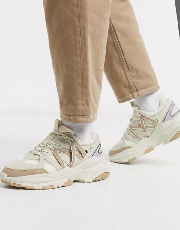 エイソス メンズ スニーカー シューズ ASOS DESIGN sneakers in tonal stones with chunky sole Stone