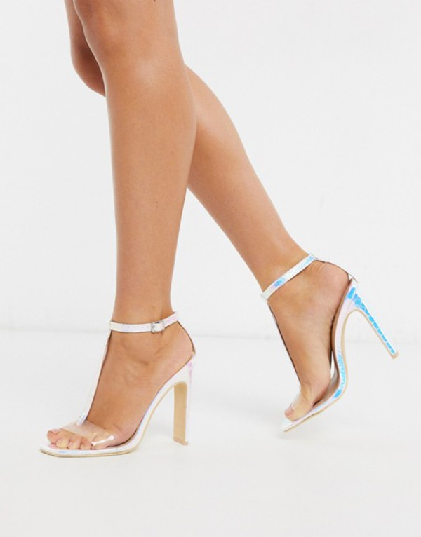 トリュフコレクション レディース ヒール シューズ Truffle Collection irredescent clear mix heeled sandals Irredescent/white