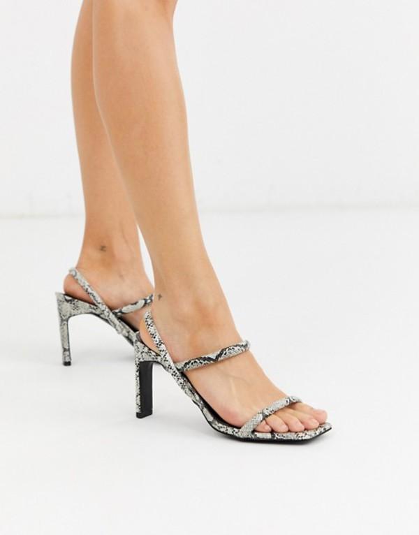 ミスセルフフリッジ レディース サンダル シューズ Miss Selfridge 2 part snakeskin sandals Snake