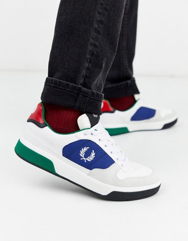 フレッドペリー メンズ スニーカー シューズ Fred Perry B330 suede trim sneakers in white White