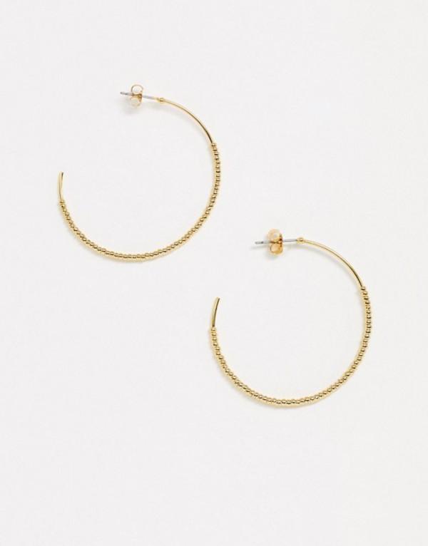 ホイッスルズ レディース ピアス・イヤリング アクセサリー Whistles seed bead half hoop earrings Gold