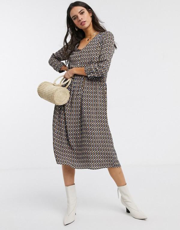 ウエアハウス レディース ワンピース トップス Warehouse geo print midi dress Multi