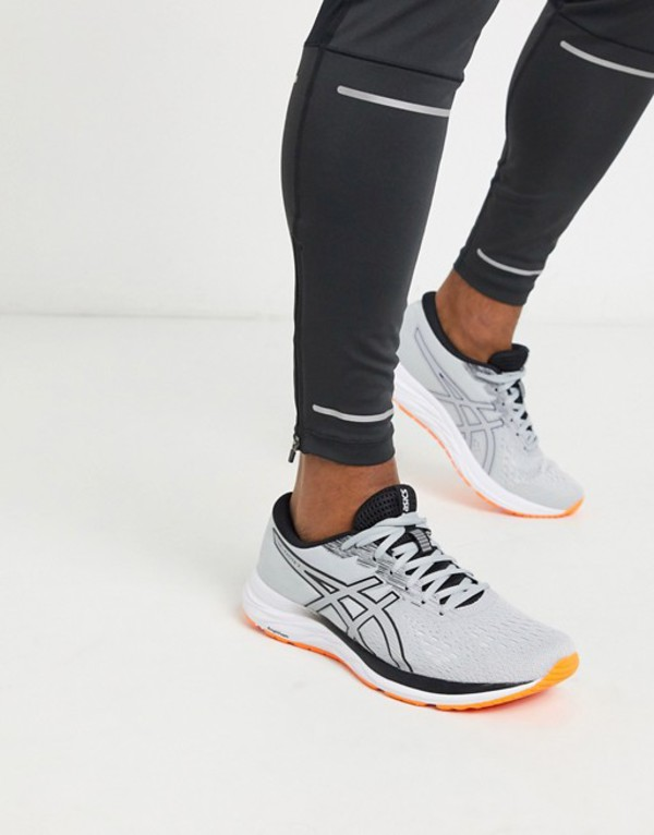 アシックス メンズ スニーカー シューズ Asics Running gel excite sneakers in gray Gray
