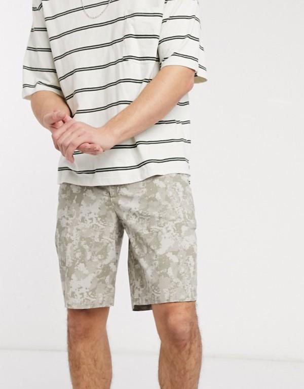 カルバンクライン メンズ ハーフパンツ・ショーツ ボトムス Calvin Klein twill camo shorts in tan Tan