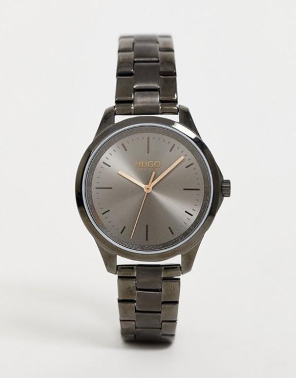 フューゴ メンズ 腕時計 アクセサリー HUGO 1540042 Fearless bracelet watch in gunmetal 36mm Gray