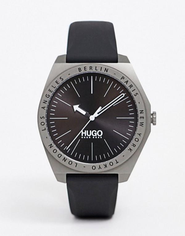 フューゴ メンズ 腕時計 アクセサリー HUGO 1530106 Act silicone watch 44mm Gray
