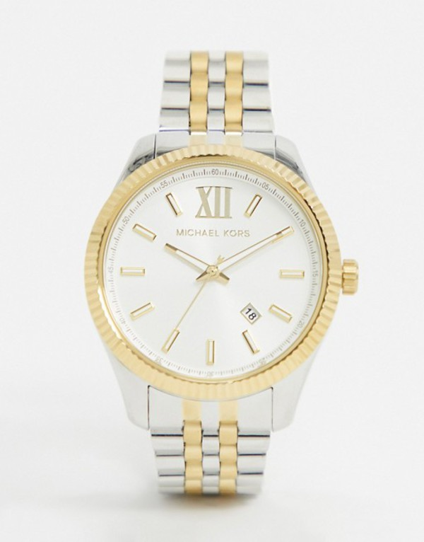 マイケルコース メンズ 腕時計 アクセサリー Michael Kors MK8752 Lexington bracelet watch in mixed metal Multi