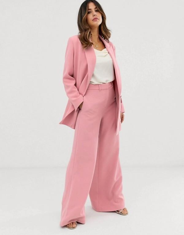 エイソス レディース カジュアルパンツ ボトムス ASOS EDITION wide leg pants Dusky pink
