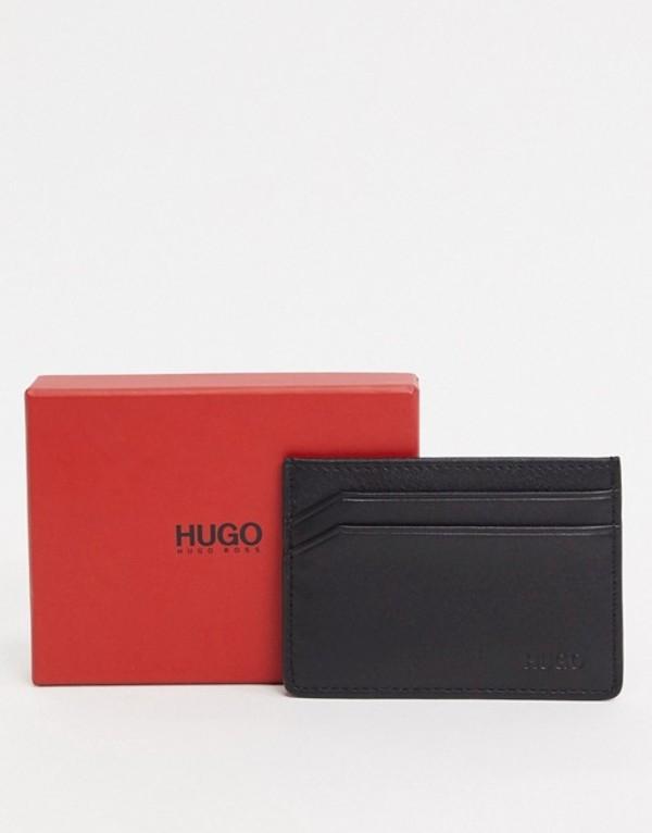 フューゴ メンズ 財布 アクセサリー HUGO Subway cardholder in black Black