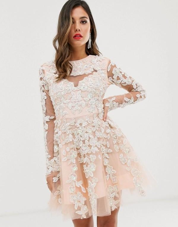 エースターイズボーン レディース ワンピース トップス A Star Is Born mini prom embellished skater dress Multi
