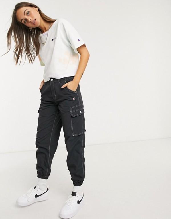 チャンピオン レディース カジュアルパンツ ボトムス Champion cargo pants with contrast stitching Black