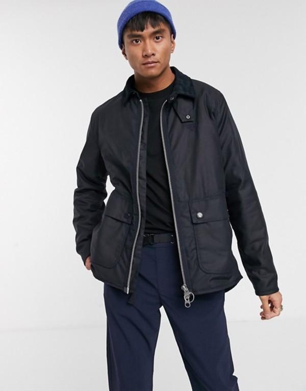 バーブァー メンズ ジャケット・ブルゾン アウター Barbour Beacon Tinder wax jacket in navy Navy