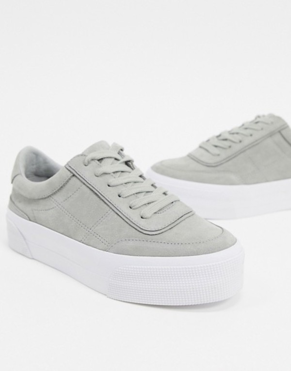 エイソス レディース スニーカー シューズ ASOS DESIGN Dynamic suede chunky sneakers in gray Gray suede
