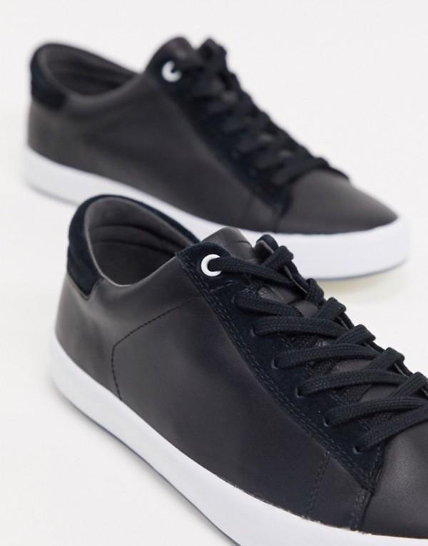 カンペール メンズ スニーカー シューズ Camper leather sneaker in black Black