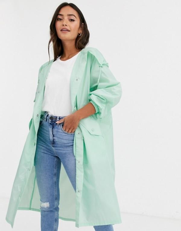 エイソス レディース ジャケット・ブルゾン アウター ASOS DESIGN lightweight hooded jacket in mint Mint