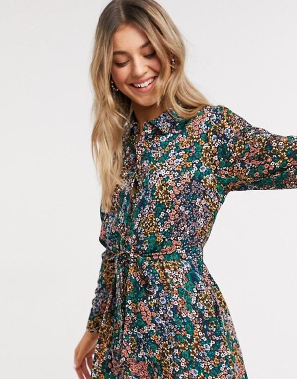 ジェイディーワイ レディース ワンピース トップス JDY midi shirt dress in floral print Multi